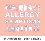 allergy symptoms word concepts...