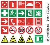 fire safety signs icons with... | Shutterstock .eps vector #1454661212