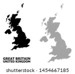 halftone and solid map of... | Shutterstock .eps vector #1454667185
