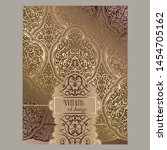 wedding invitation card with... | Shutterstock .eps vector #1454705162