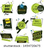 sale stickers. price tag label. ... | Shutterstock .eps vector #1454720675