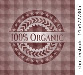 100  organic red seamless badge ... | Shutterstock .eps vector #1454727305