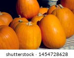 Pumpkins For Halloween On The...