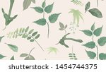 flowers and foliage seamless... | Shutterstock .eps vector #1454744375