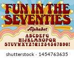 font vector alphabet design  an ... | Shutterstock .eps vector #1454763635