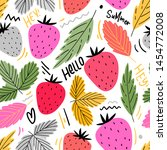 strawberry seamless pattern for ... | Shutterstock .eps vector #1454772008