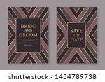 modern geometric luxury wedding ... | Shutterstock .eps vector #1454789738