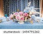 luxury dinner banquet in the... | Shutterstock . vector #1454791262