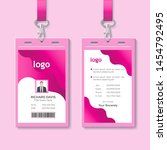 id card with lanyard set... | Shutterstock .eps vector #1454792495
