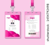 id card with lanyard set... | Shutterstock .eps vector #1454792498