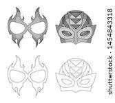 bitmap design of hero and mask...   Shutterstock . vector #1454843318