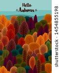 autumn design with autumn...   Shutterstock .eps vector #1454855198