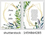 set of printed products for the ... | Shutterstock .eps vector #1454864285