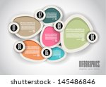 infographics concept background ... | Shutterstock .eps vector #145486846
