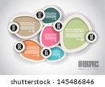 infographics concept background ... | Shutterstock .eps vector #145486846