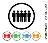 group of people icon vector... | Shutterstock .eps vector #1454872355