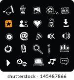 collection of doodle white web... | Shutterstock .eps vector #145487866