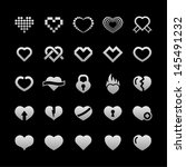 heart icon set | Shutterstock .eps vector #145491232