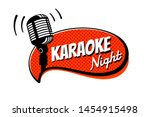 karaoke night party script on... | Shutterstock .eps vector #1454915498