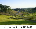 View To Horse Farm On A Hot...