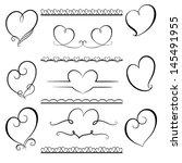 calligraphic design elements ... | Shutterstock .eps vector #145491955