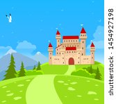 fairy castle and nature... | Shutterstock .eps vector #1454927198