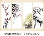 chinese paintings  | Shutterstock .eps vector #145493872