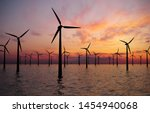 Offshore Wind Turbines Farm At...