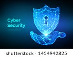 security shield. cyber security.... | Shutterstock .eps vector #1454942825