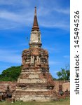 old pagoda at ayutthaya ... | Shutterstock . vector #145494526
