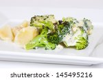 baked broccoli with potatoes ... | Shutterstock . vector #145495216