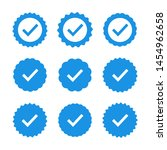set of quality icons. blue flat ... | Shutterstock .eps vector #1454962658