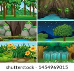 sets of empty nature landscape... | Shutterstock .eps vector #1454969015