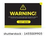 modern warning pop up in flat... | Shutterstock .eps vector #1455009905