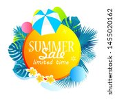 summer sale poster banner with... | Shutterstock .eps vector #1455020162