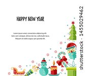merry christmas and happy new... | Shutterstock .eps vector #1455029462