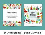 merry christmas and happy new... | Shutterstock .eps vector #1455029465