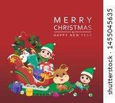 celebration christmas festive... | Shutterstock .eps vector #1455045635