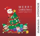 celebration christmas festive... | Shutterstock .eps vector #1455045638