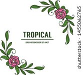tropical with artwork rose pink ... | Shutterstock .eps vector #1455062765