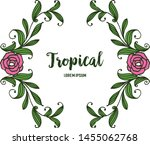 tropical with artwork rose pink ... | Shutterstock .eps vector #1455062768