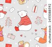 draw seamless pattern... | Shutterstock .eps vector #1455088592