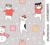 draw seamless pattern... | Shutterstock .eps vector #1455088595