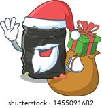 santa with gift garbage bag... | Shutterstock .eps vector #1455091682