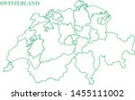 switzerland green line map... | Shutterstock .eps vector #1455111002