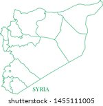 syria green line map vector | Shutterstock .eps vector #1455111005