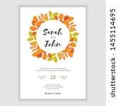 autumn leaf wedding invitation... | Shutterstock .eps vector #1455114695
