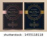 invitation card vector design   ...   Shutterstock .eps vector #1455118118