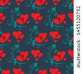 seamless pattern with flowers... | Shutterstock .eps vector #1455120752