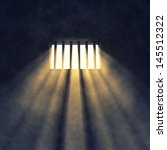 prison cell interior   sunrays... | Shutterstock . vector #145512322